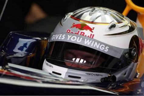 Ausnahmsweise mal nicht grau-blau: Sebastian Vettels Helm beim Heimrennen