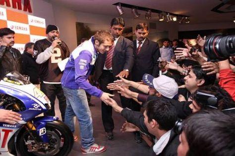 Valentino Rossi erfreut sich auch Indien großer Beliebtheit