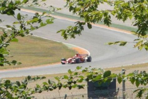 Im August unternahm Schumacher mit einem 2007er-Ferrari Probefahrten