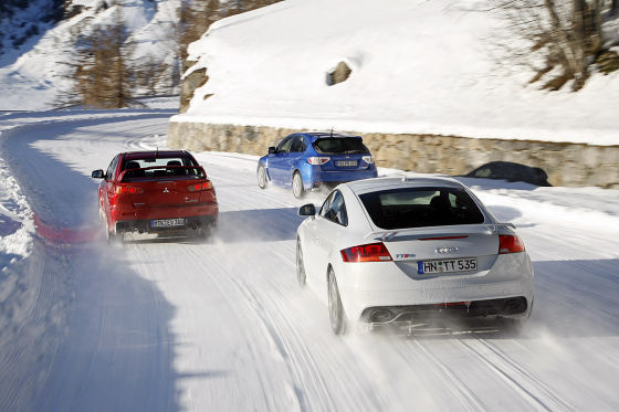 Audi TT RS Subaru Impreza WRX STi Mitsubishi Lancer Evo