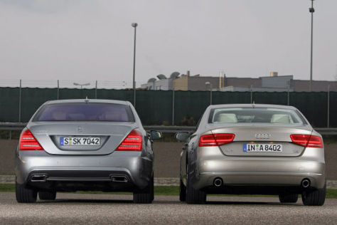 Audi A8 Mercedes S-Klasse