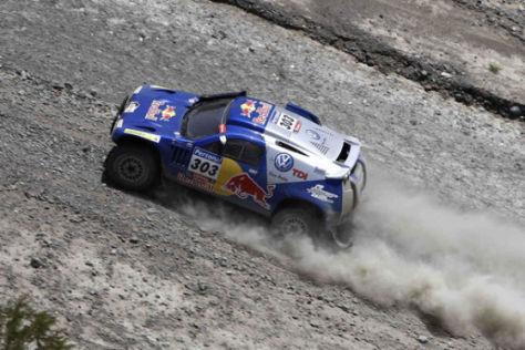 Gewinnen Etappe zwölf: Carlos Sainz/Lucas Cruz auf VW Race Touareg
