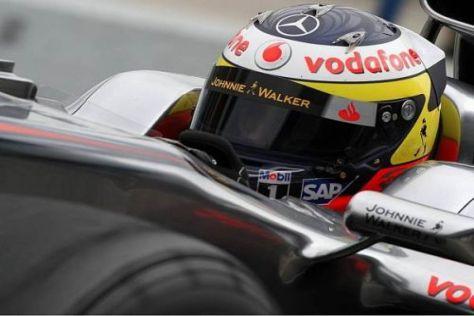 Pedro de la Rosa bestreitet am 1. Februar 2010 die ersten Testfahrten für McLaren