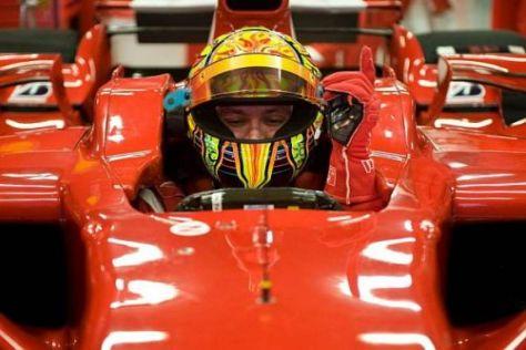 Valentino Rossi absolvierte heute seinen ersten Testtag in Barcelona