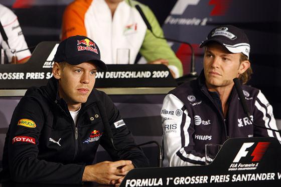 Sebastian Vettel und Nico Rosberg