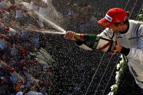 Jenson Button möchte auch im Dress von McLaren-Mercedes schnell feiern