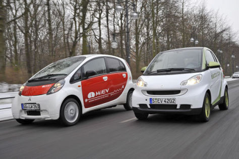 Mitsubishi i-MiEV Smart fortwo electric drive