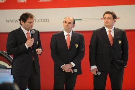 Technikchef Aldo Costa, Heimkehrer Luca Marmorini und Nikolas Tombazis