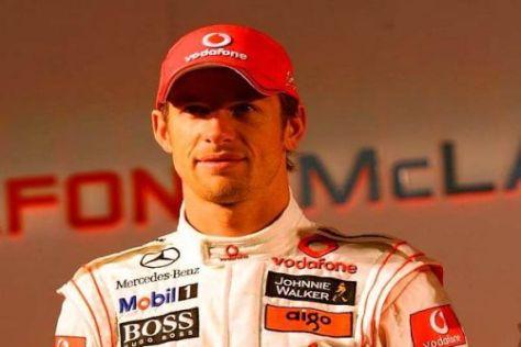 Titelverteidiger: Jenson Button möchte sich gegen Lewis Hamilton durchsetzen
