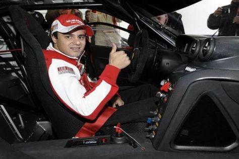 Felipe Massa drehte schnelle Runden mit einem Ferrari 599XX in Valencia