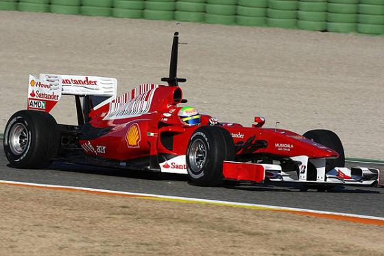 Felipe Massa beim F1-Test in Valencia