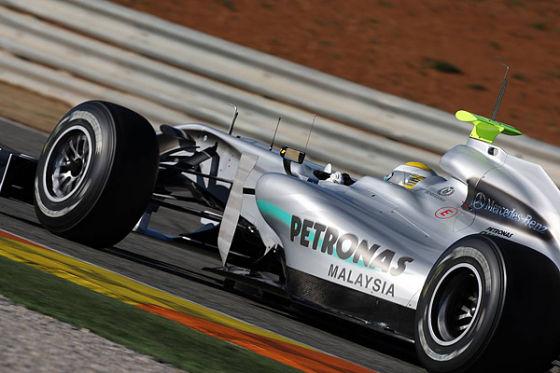 Nico Rosberg beim F1-Test in Valencia