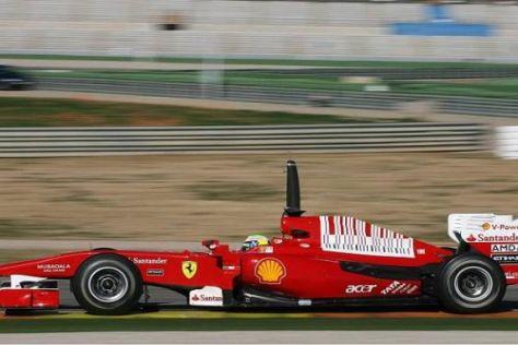 Comeback nach Maß: Felipe Massa sicherte sich die erste Bestzeit des Winters