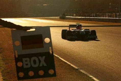 40 Runden in Valencia: Michael Schumacher fühlte sich auf Anhieb wohl