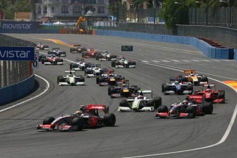 Die Top 10 der Qualifikation starten 2010 mit gebrauchten Reifen ins Rennen