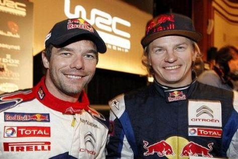 Die beiden Stars von Citroen: Sébastien Loeb und Kimi Räikkönen