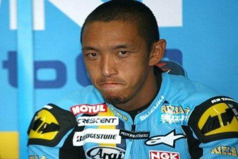 Nobuatsu Aoki durfte die ersten Kilometer mit der Suzuki in Sepang fahren