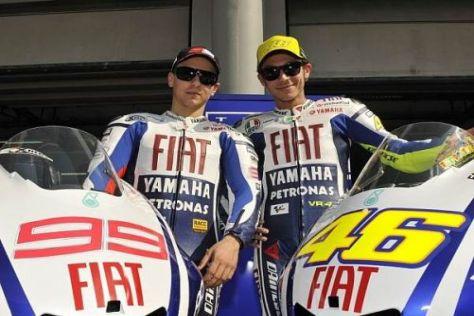 Die beiden Yamaha-Piloten hatten in Sepang einen produktiven ersten Testtag