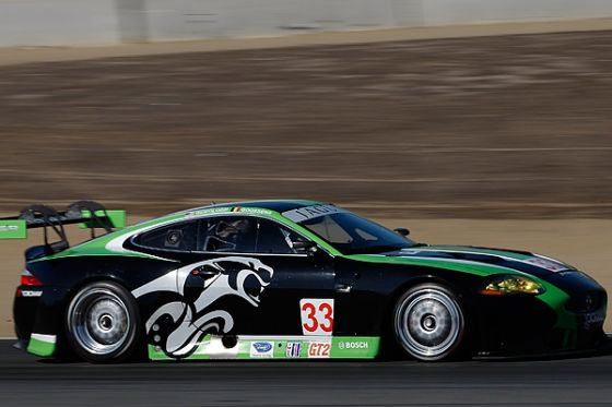 Jaguar XKR beim Rennen in Laguna Seca