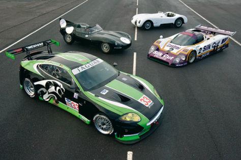 Jaguar XKR und Vorgänger