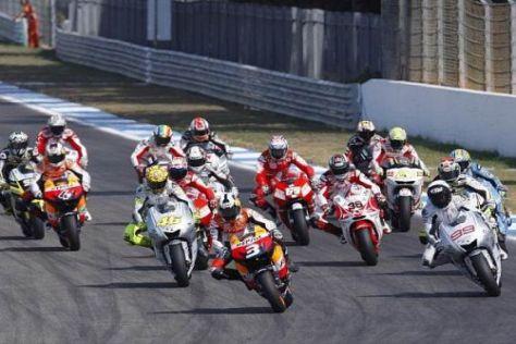 Wird in der MotoGP 2012 mit zwei verschiedenen Motorgrößen gefahren?