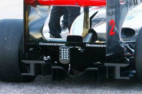 McLaren-Mercedes nutzt mit dem Diffusor die gesamte Breite am Heck
