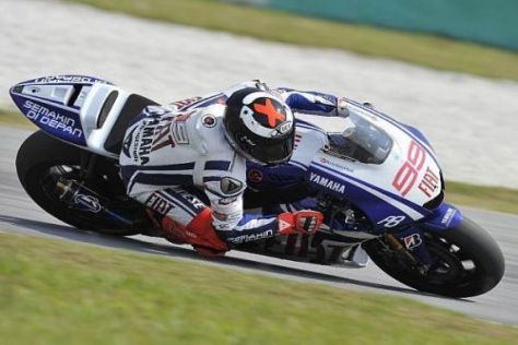 """Semakin de Depan"": Das indonesische Motto prangt am Heck des Yamaha-Bikes"