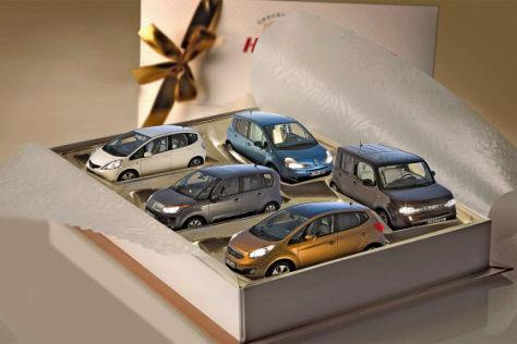 Honda Jazz 1.2 Citroën C3 Picasso VTi 95 Renault Grand Modus TCe 100 Kia Venga 1.4 CVVT Nissan Cube 1.6
