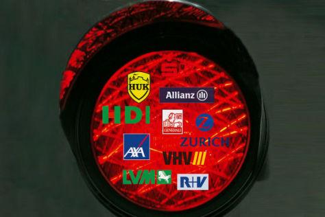 Logos der zehn wichtigsten Kfz-Versicherer