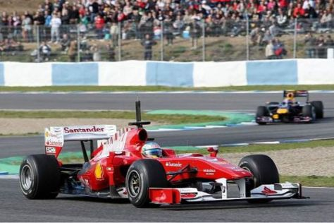 Fernando Alonso ist hochzufrieden mit der Zuverlässigkeit des neuen Ferrari F10