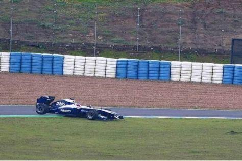 Rubens Barrichello war heute eines der Opfer des schlechten Wetters