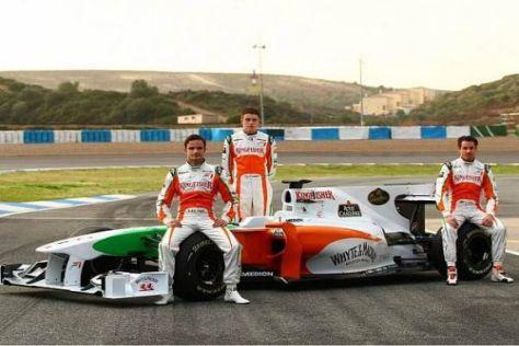 Dieses Trio soll's richten: Otmar Szafnauer will mit Force India 2010 auf das Podium
