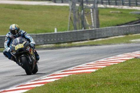 Beim Test in Sepang fuhr Loris Capirossi noch mit dem alten Suzuki-V4-Motor