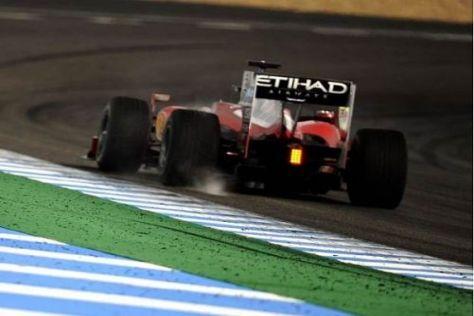 Felipe Massa drehte viele Runden am Vormittag und übte später Boxenstopps