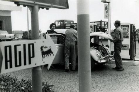Historische Agip-Tankstelle