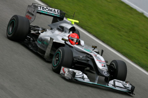 Michael Schumacher im Mercedes GP W01