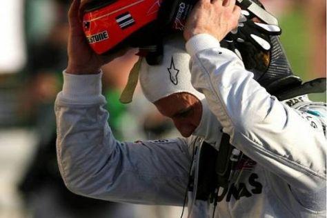 Helm ab: Michael Schumacher lieferte eine fehlerfreie Leistung ab