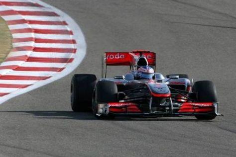 Jenson Button konnte das Tempo seines Teamkollegen nicht ganz mitgehen