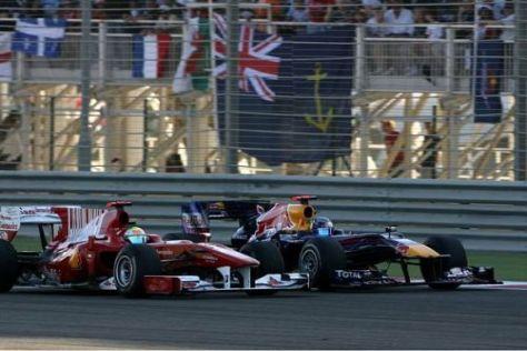 Sebastian Vettel musste erst Alonso, dann Massa (Foto) passieren lassen