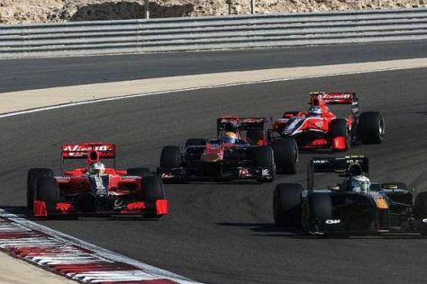 Timo Glock und Lucas di Grassi mussten ihre Autos vorzeitig abstellen