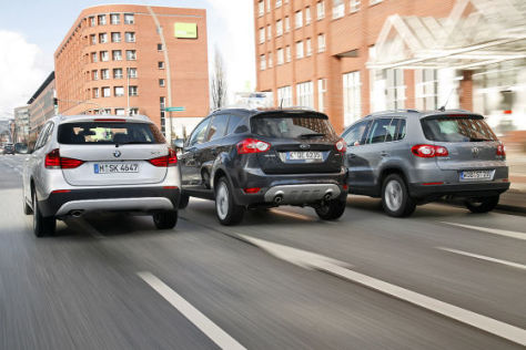 BMW X1 Ford Kuga VW Tiguan