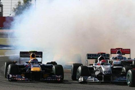 Im Duell gegen die Mercedes-Fraktion: Red Bull hat auch mit Renault viel Dampf
