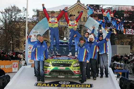 Podium Rallye Schweden