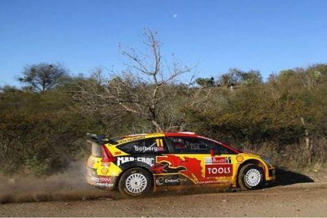 Drei Prüfungen, drei Bestzeiten: Petter Solberg ist in Mexiko nicht zu stoppen