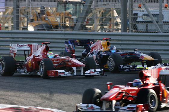 Alonso, Massa und Vettel