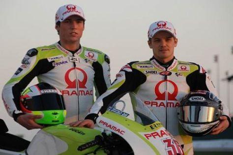 """Aleix Espargaro (l.) und Mika Kallio starten im inoffiziellen """"Green Energy Team"""""""
