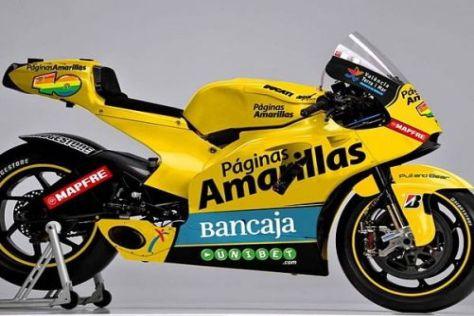 Das Aspar-Team startet in dieser Saison mit einer knallgelben Ducati GP10