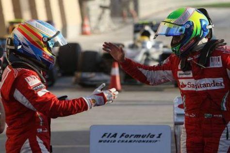 Das interne Ferrari-Duell: Fernando Alonso führt 1:0 gegen Felipe Massa