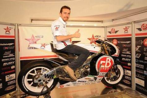 Garry McCoy darf ab Anfang Mai mit der FB01 in der MotoGP kämpfen
