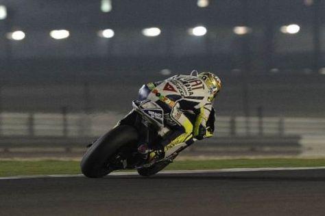 Valentino Rossi wurde am Freitag in Katar von Casey Stoner geschlagen